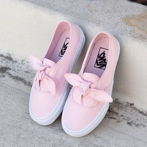 Vans // Canvas Authentic Knotted Slip Ons